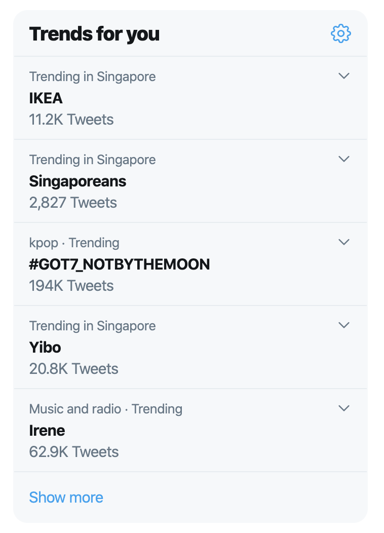 Less than 30 mins and it is already trending on Twitter. #GOT7_NOTBYTHEMOON