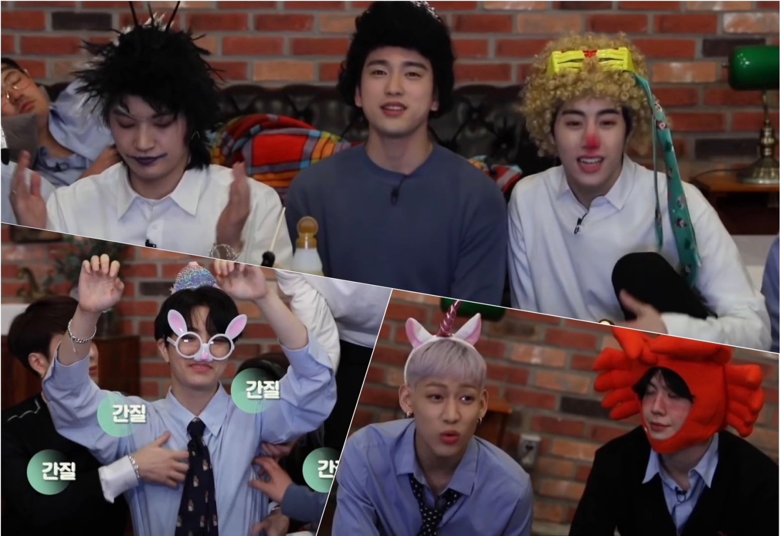 GOT7 members on PIKI Pictures' After Boss Falls Asleep for DYE.