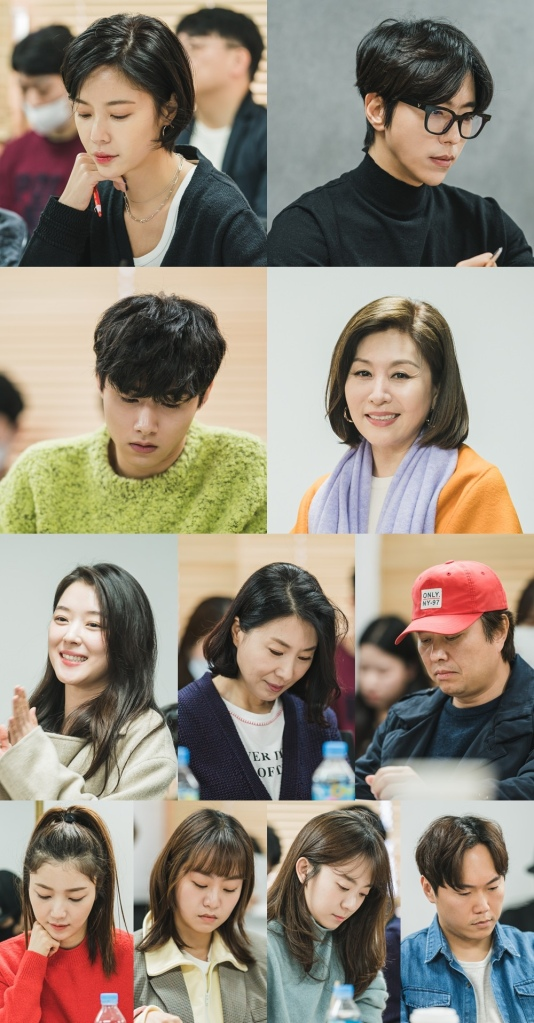 Cast from That Man is That Man during script reading