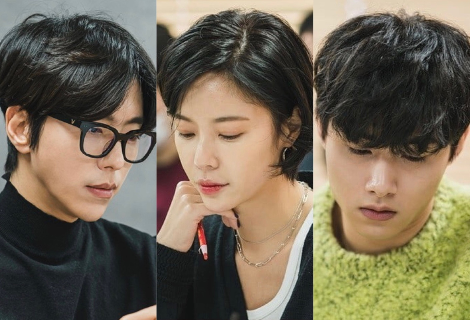 Yoon Hyun Min, Hwang Jung Eum, Seo Ji Hoon at the script reading for That Man is That Man.