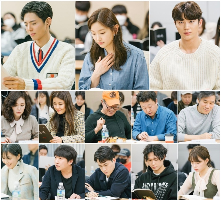 The Moment cast gather for script reading
