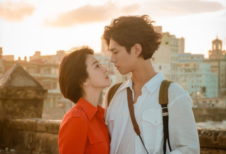 Encounter drama poster with Song Hye Kyo and Park Bo Gum