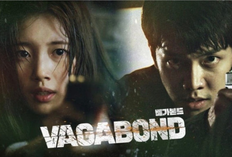 Vagabond Kdrama poster with Bae Suzy and Lee Seunggi