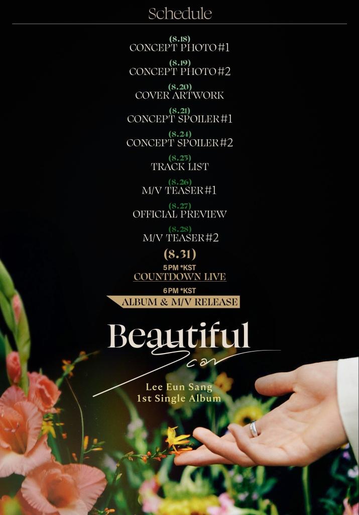 Lee Eun Sang 1st Single Album 'Beautiful' Promotion Plan