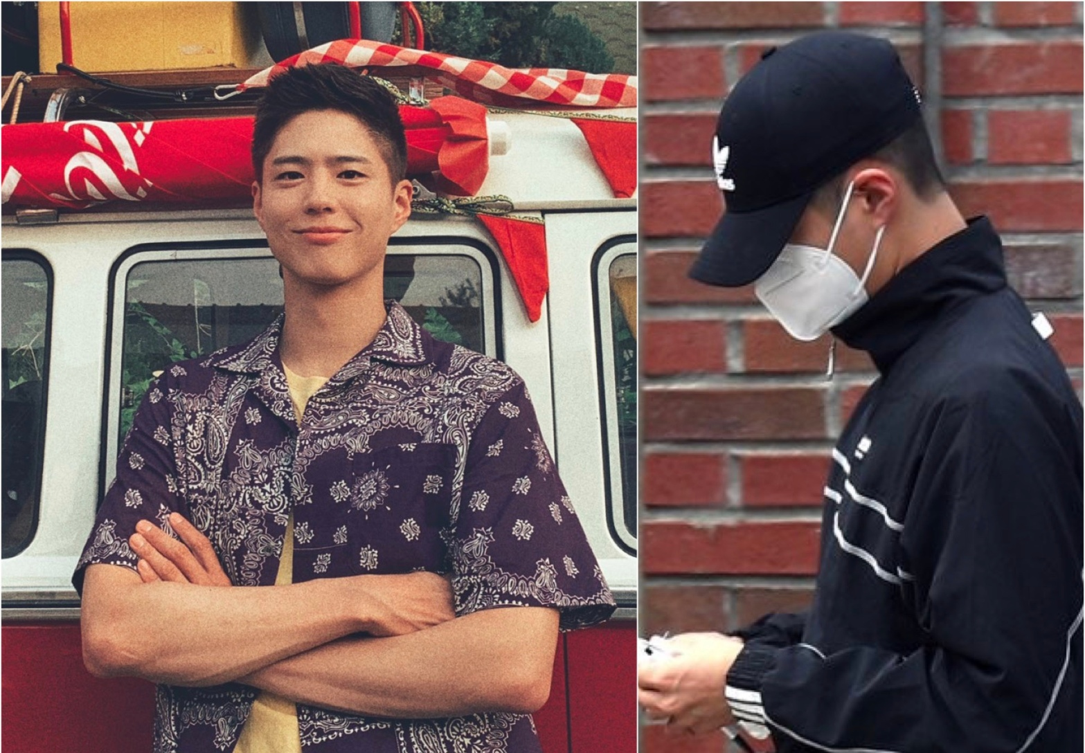 Park Bo Gum enlisting to the navy on 31 Aug 2020.